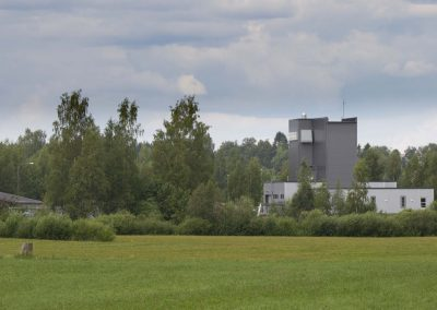 Alavuden Vesihuoltolaitos Ponnemiehentieltä katsottuna